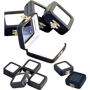 ルースケース ジュエリーケース 指輪ケース 携帯用 宝石収納 ディスプレイケース 標本箱 展示窓(10個セット)|horikku