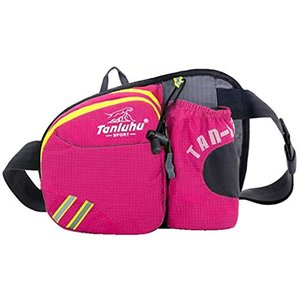 BEATON JAPAN ランニングポーチ ペットボトル ケース付き メンズ レディース サイクリング 散歩 釣り(ピンクパープル)|horikku