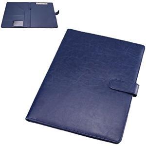 クリップボード ファイルホルダー 見開き A4 書類ホルダー バインダー オフィス用品(blue)|horikku