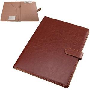 クリップボード ファイルホルダー 見開き A4 書類ホルダー バインダー オフィス用品(brown)|horikku