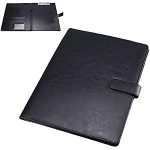 クリップボード ファイルホルダー 見開き A4 書類ホルダー バインダー オフィス用品(black)|horikku