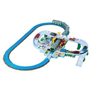 種類:単品 プラレールとトミカが一緒に遊べる大きな踏切が登場.. レバーとボタンで操作できる.電車が...