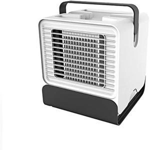 冷風扇 扇風機 小型 卓上 USB ポータブルエアコン 静音 省エネ 熱中症対策 自宅用 オフィス 寝室 車中泊 キャンプ(アイスホワイト)|horikku