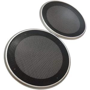 美しいスチールメッシュ スピーカー グリル カバー 選べる4サイズ / 3色 汎用 左右セット(シルバー, 6.5インチ)|horikku