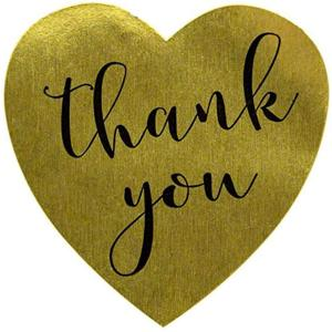 プロ用 Thank you シール ゴールドハート 約495ハート 縦横2.5cm(ゴールドハート(Thank you シール))|ホリック PayPayモール店
