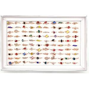 ファッション リング 100個 セット 指輪 アクセサリー レディース ジュエリー 宝石 カラー ストーン かわいい お祭り 景品 縁日|horikku