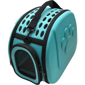 ペットキャリーバッグ折りたたみケース ショルダー肩掛ベルト付 犬猫小動物用 ペットシーツセット Mサイズ ミント色(17. Mミント)|horikku