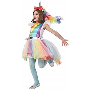 子供 ユニコーン 衣装 キッズ ハロウィン 仮装 女の子 コスプレ ワンピース Lサイズ(L)|horikku