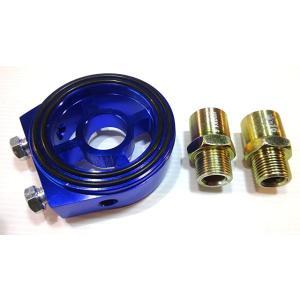 オイルブロック 油圧計 油温計 センサー アタッチメント 汎用 サンドイッチ 式 クリア ブルー(クリア ブルー)|horikku