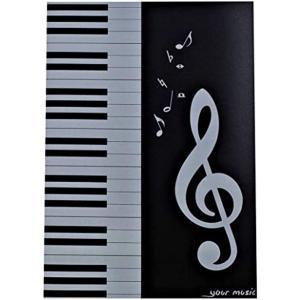 展開式 楽譜ファイル A4 サイズ 4面 見開き 楽譜ホルダー(ブラック1個)|horikku