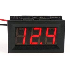 電圧計 デジタル 2.5V-30V DC パネルメーター ソーラープロジェクト用 2線式 0.56インチ[090077_JPN](赤い) horikku