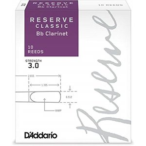 D'Addario Woodwinds/RICO LDADRECLC3 レゼルヴ クラシック B♭ク...