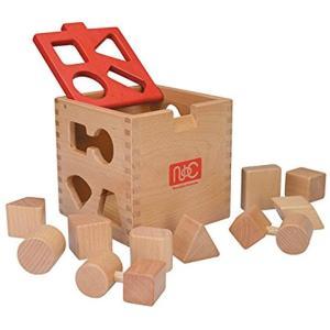 10種類のブロックを同じ形の穴に入れるパズルBOXです。 ---------------------...
