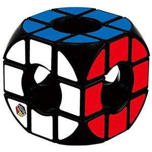 リングが重なりあったような、真ん中に穴が開いた不思議なキューブ。。通常のルービックキューブの解き方で...