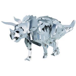 金属製の恐竜フィギュア(特長)・主要部品がすべて金属製の恐竜が作れるキットです。 ・あしやあごなどが...