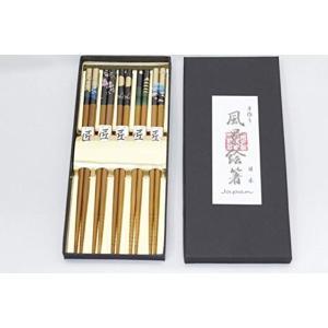 日本のお土産 箸5膳セット 日本の風景絵 Chopsticks 5Sets/Beautiful Japanese View[五膳竹箸風景]|horikku