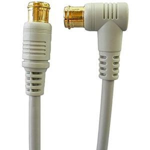 地デジ・BS・CS放送対応 アンテナケーブル S4CFB 4C同軸ケーブル L型プラグとストレートプラグ[Z-050](5.0m)|horikku