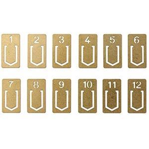 ひとつひとつにナンバーが振られた12個入のクリップです。。真鍮製ならではの味わい深い質感が魅力です。...