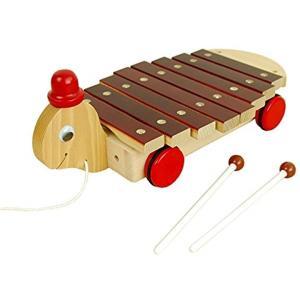 日本製木のおもちゃカメさんシロホン[M02](ブラウン)|horikku