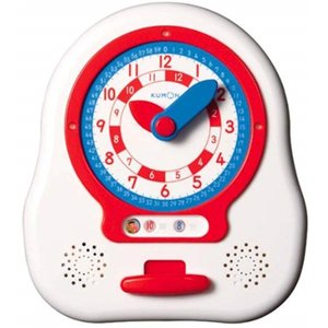 (商品の特長)針を自分で回して時計の読み方を練習する「時計のおもちゃ」です。 針と同じ色の数字を読む...