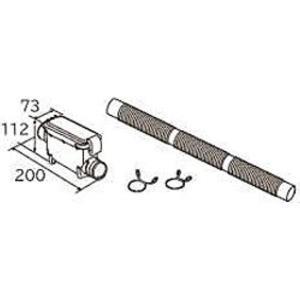 糸くずボックス 風アイロン搭載機種用 蛇腹ホースタイプHITACHI[WLB-3]|horikku