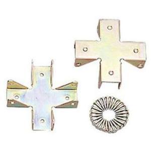 ・カラー化粧棚板やカラーボックスなどを使用したDIYに適した金具です・結合部や板の端にネジ穴が来ない...