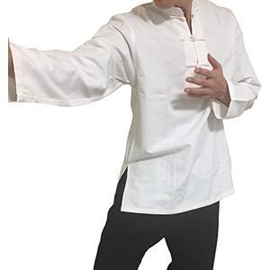 組み合わせて着られる。 カンフー服上 太極拳 少林寺拳法 長拳 拳術 中国武術 道着 R145 M(カンフーシャツ, Medium)|horikku