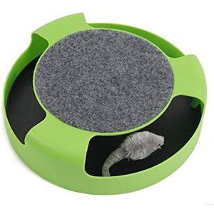 猫 のための おもちゃ 猫夢ちゅ〜 ねずみ を追いかける ストレス発散 運動不足 解消 ペット用品 グリーン[AZ]|horikku
