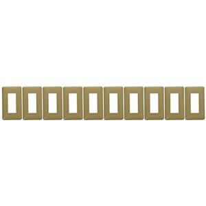 フルカラーモダンプレート3個用 ダークベージュ WN6003Y 10個入[WN6003Y10]