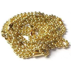 ボールチェーン 95本セット +予備5本長さ15cm前後 明るい金色[ボールチェーン95本+予備5本](明るい金色(ライトゴールドカラー))|horikku
