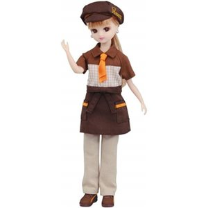 大人気のミスタードーナツショップの店員さんのドレスセットがデザイン新たに登場です。  ・人形は付属い...