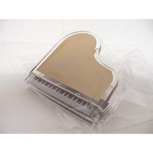 おしゃれなピアノの形のクリップです。  楽譜などを留めるのにいかがですか? 寸法:50×50×30m...
