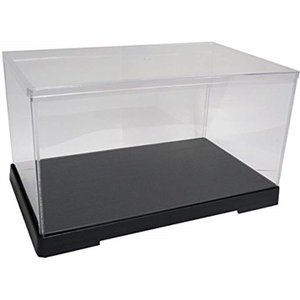 透明フィギュアケース プラスチック 組立式 W300×D180×H160mm ディスプレイケース[301816]|horikku