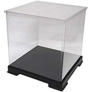 透明フィギュアケース プラスチック 組立式 W320×D320×320mm ディスプレイケース[323232]|horikku