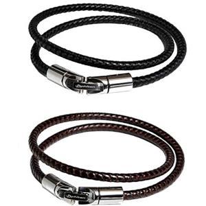 ブレスレット RAKUWA ブレスX100 レザータッチモデル ブラック・ブラウン[TG415001...