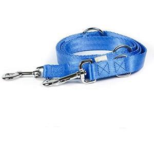 犬用 マルチロングリード 3段階・2頭引き 調節可能[2493520108949](ブルー, S)|horikku