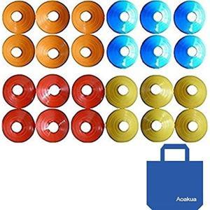 スポーツなどの目印に使えるカラフルなマーカーコーンです。    枚数は24枚、練習の色々な場面に役立...