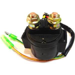 バイク スターターリレー オートバイ セルリレー 汎用 12V マグネットスイッチ 修理 予備 に 備えて 安心 や にも(ギボシ)|horikku