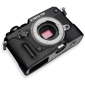 今話題の最新ミラーレス一眼カメラ、OLYMPUS PEN-F用本革カメラケース。  ハイクオリティー...