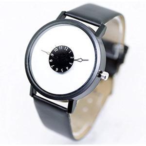 腕 時計 LITERAL SIMPLE シンプル ファッション アクセサリー 内側 針 男[ZM-SINDOKEI-BW](ブラック&ホワイト)|horikku
