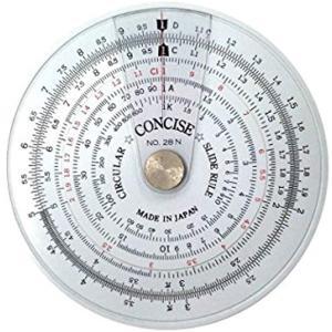 定規 円形計算尺 28N[100973]