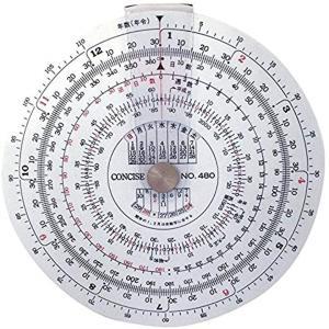 定規 円形計算尺 日数 480[100836]