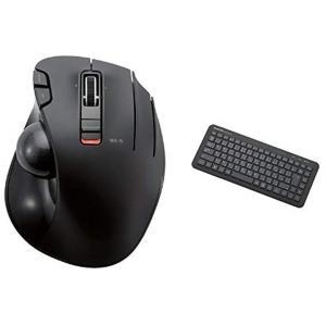 ワイヤレスマウス トラックボール 6ボタン M-XT3DRBK + ワイヤレスキーボード メンブレン...