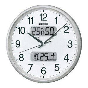 温湿度カレンダー表示付電波掛時計 直径350×...の関連商品2