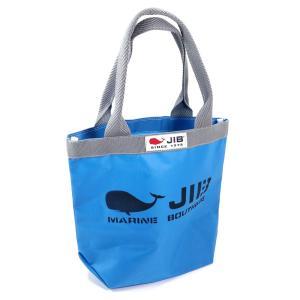 JIB バケツトートバッグ Sサイズ BKS33 ロケットブルー×グレー ファスナーなし 8文字まで名入れ無料 セイルクロスバッグ エコバッグ 軽い クジラ 大きめ ジブ horiman