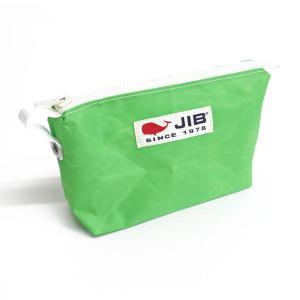 JIB フィンガポーチ FPO22 グラスグリーン 持ち手付 8文字まで名入れ無料 セイルクロスバッグ ジブ じぶ horiman