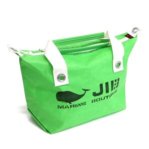 JIB ファスナーつきトートバッグ オーバージップ Sサイズ FTS68 グラスグリーン ベルトなし ファスナーが外側から見えるタイプ 8文字まで名入れ無料 horiman