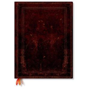 paperblanks ペーパーブランクス ノートブック ウルトラ(ULTRA)サイズ ブラックモロッカン PB2846-8 ゴムバンド 240頁 ド horiman