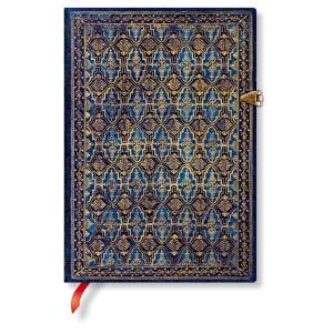 paperblanks ペーパーブランクス ノートブック ミディ(MIDI)サイズ ブルー・リバー PB3233-5 留め金 240頁 罫線 horiman