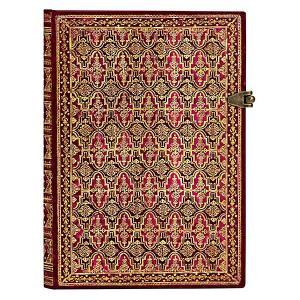 paperblanks ペーパーブランクス ノートブック ミディ(MIDI)サイズ アルヴィアム PB3236-6 留め金 240頁 罫線 horiman